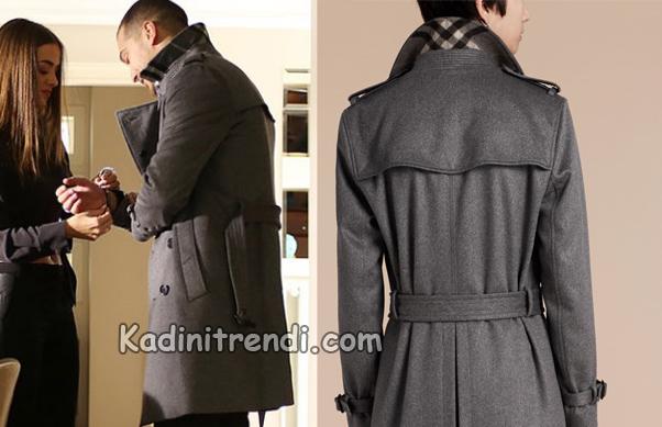 İçerde Sarp Gri palto