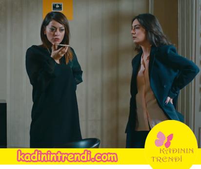cesur ve güzel 8 bölüm Cahide'nin giydiği siyah elbise ve Ayşe'nin Giydiği ceket hangi marka