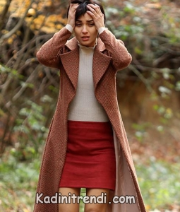 cesur ve güzel dizi kıyafetleri 5. bölüm Sühan Kırmızı etek beyaz kazak kombin