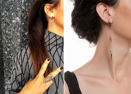 AKSESUAR KOMBİN Saç şekline göre küpe kullanımı