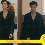 Cesur ve Güzel Sühanın mahkemede giydiği siyah elbise ve siyah pardesü