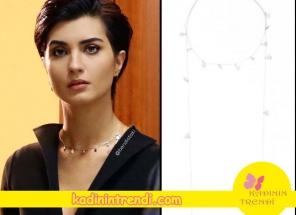 Cesur ve güzel dizisinde 9 bölümde sühanın taktığı pullu kolye Bendis marka