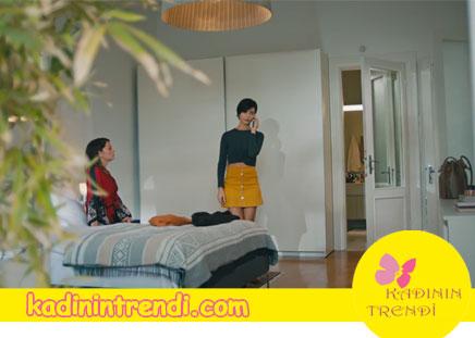 Cesur ve Guzel Suhan'in Nisantasi'ndaki evi yatak odası