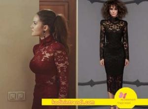 Ölene Kadar 4. Bölüm Kıyafetleri Fahriye Evcen-Selvi'nin bordo abiye tarzı elbisesi Raisa & Vanessa marka. Bu elbiseyi trendyol'da bulabilirsiniz.