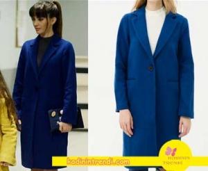 Adı-Efsane-2-bölüm-kıyafetleri-Seçil tek düğme-mavi kaban