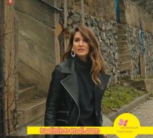 Seçil siyah deri ceket markası Natalie Kolezyon