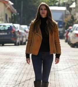 B.Ş.A.G Derin Süet ceket Desa Fashion .Pantolon Koton.