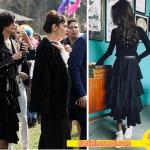 Cesur ve Güzel Kıyafetler 17. bölümde Sühan'ın giydiği siyah fırfırlı etek Mergim Online marka.