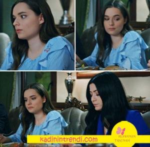 Eşkiya dünyaya Hükümdar olmaz dizisinde Zeyno nun giydiği mavi bluz Ekol de satılmaktadır