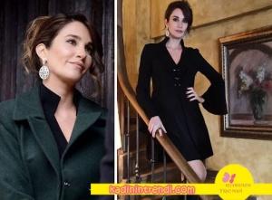 Seçil karakterinin siyah elbisesi Pia Brand, küpesi m7 bijokux.