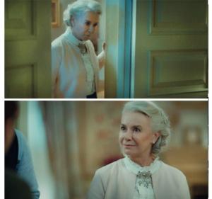 istanbullu Gelin kıyafetleri Esma Sultan yaka kısmı fırfırlı beyaz bluzu Ekol marka.