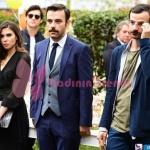 İstanbullu Gelin İpek siyah elbise ve çanta kombini Osman ceket ve Fikret takım elbise markaları