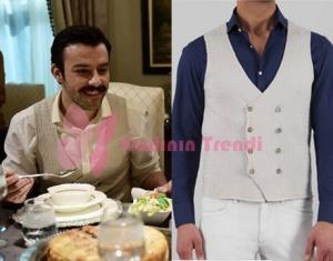 İstanbullu Gelin Fikret fil dişi gömlek ve krem rengi yelek markaları Ramsey