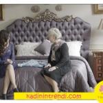 İstanbullu Gelin Süreyya Hanım'ın yatak odası Villa Pamir markaları ile dekore edildi.