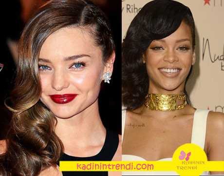 2017-Saç-Modelleri-yandan ayrılmış saç modeli Rihanna Saç modeli