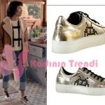 Fi 4. bölüm dizi kıyafetleri Ceren altın rengi spor ayakkabıların markası Elle Shoes