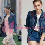 Fi 4 Bölümde Serenay Sarıkaya'nın giydiği çiçek desenli kot ceketin markası Mudo