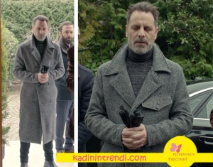 Fi Dizisinde Ozan Güven'in karakteri Can'ın giydiği gri uzun kaban markası Que. Bu kaban ile Can Monay Karizmasını yakalayabilirsiniz :)