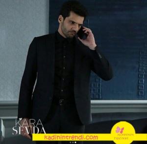 Kara Sevda Emir siyah Takım elbise Cacharel marka
