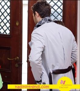 Onur karakterini canlandıran Furkan Palalı nın giydiği siyah kemerli gri trençkot markası Barış Kurbal