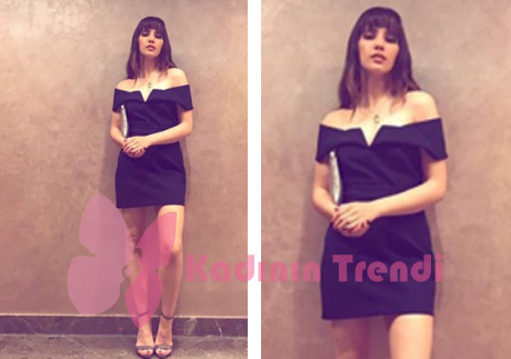 Adı Efsane Melis siyah mini elbise Forever New marka
