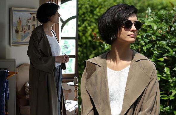 Cesur ve Güzel 28. Bölüm dizi kıyafetleri Sühan haki Trençkot Trendyol marka