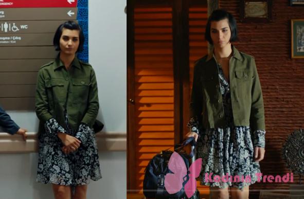 Cesur ve Güzel dizisinin Sühanın giydiği çiçek desenli elbise Matcha markadır.