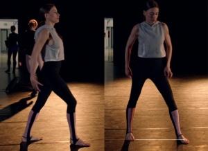 Fi 7. Bölümde Duru Dans ederken giydiği siyah tayt ve gri kapşonlu svitşort