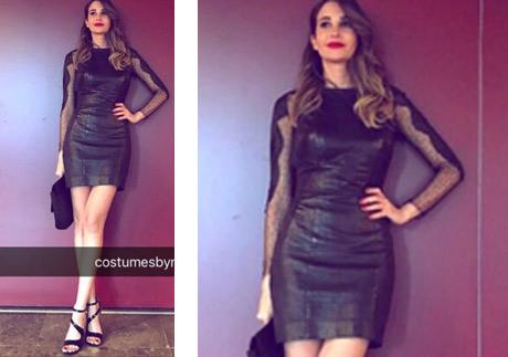 Rojda Demirer adı Efsane dizisinde giydiği siyah kolları transparan elbisesi Rikkat marka