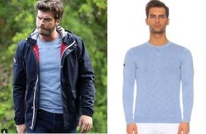 cESUR VE Güzel kıvanç tatlıtuğ lavivert mont ve mavi bluz superdray marka