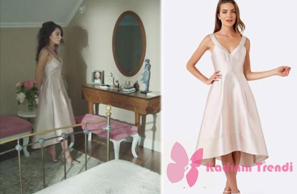 kara-sevda-68.-bölümde-Nihanın-giydiği- toz pembe abiye elbise markası Forever New