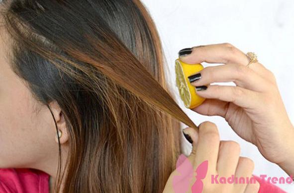 Limon suyu ile saç açma evde saç açma yöntemleri