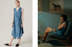 Cesur ve Güzel 31. bölümde Sühan karakterinin giydiği mavi elbise Hause Of Ogan marka