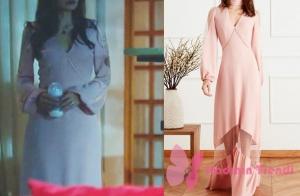 Kara Sevda dizisinin 74. bölümünde Neslihan Atagün'ün giydiği pudra elbise markası Nocture