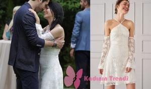No 309 Dizisi 50. Bölüm Lale Beyaz Elbise Trendyol Milla marka Elbisenin Fiyatı 160 TL