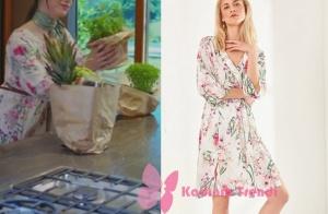 Dolunay 1. bölüm Nazlının giydiği beyaz çiçekli elbise Trendyol Milla marka