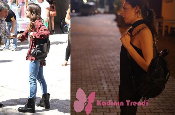 Kalp Atışı 1. bölümde Eylül karakterinin kullanmış olduğu siyah sırt çanta markası Mosse