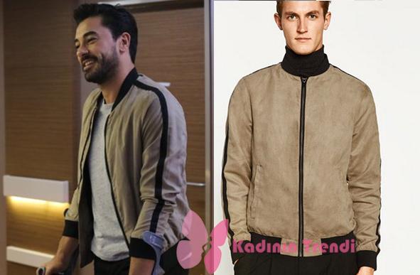 Kalp Atışı 3. bölüm kıyafetleri Ali Asaf karakterinin giymiş olduğu bomber ceket markası Zara.