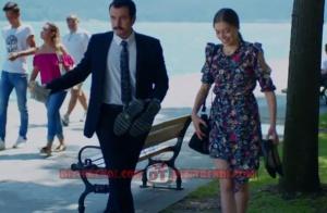Dolunay Dizi Kıyafetleri Fatoş omuzları dekolteli çiçekli elbise