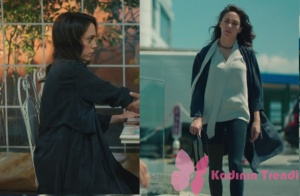 Kalp Atışı 5. bölümde Eylül'ün giydiği lacivert süet trençkotun markası araştırılıyor.