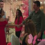 Kalp Atışı 7. bölümde Esma'nın giydiği kırmızı elbise Pull And Bear marka