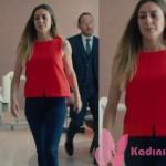 Kalp Atışı 7. bölümde Bahar'ın giydiği kırmızı kolsuz bluz mango markadır