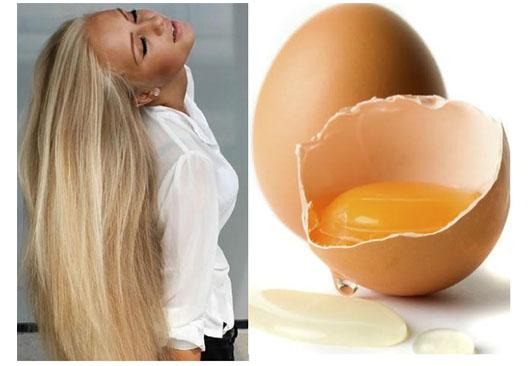 Yumurtalı saç maskesi