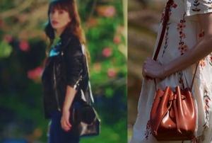Dolunay dizisinde Özge Gürel'in siyah çantası Maera Design İstanbulmarka