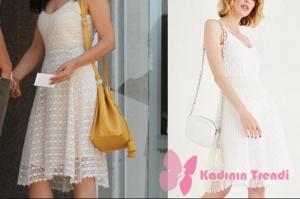Rüya 3. bölüm Elif'in evlenme teklifinde giydiği beyaz file elbise markası Oxxo