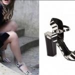 Süreyyanın siyah beyaz çizgili ayakkabısı Elle Shoes markadır