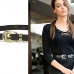 Çukur dizisinin 2. bölümünde Sena'nın siyah elbise üzerine taktığı siyah kemeri Blow The Belt marka