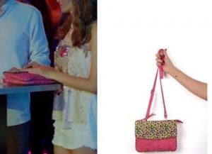 Asuman pembe leopar desenli kol çantası Pinky Lola
