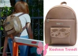 Dolunay 13. bölümde Asuman'ın taktığı Sırt çanta Pinky Lola Design marka