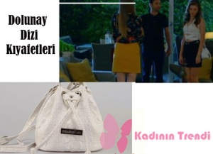 Dolunay Asuman hakiki deri süetbeyaz sırt çantası Pinky Lola design markadır